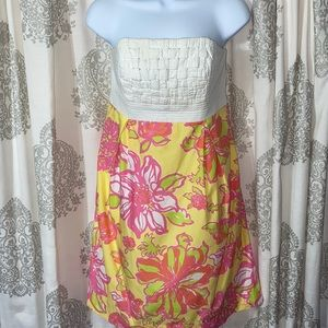 Lilly Pulitzer Betsey basket weave strapless dress